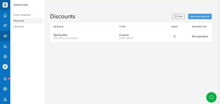 Sellfy Discounts