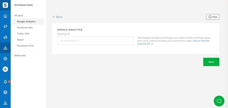 Sellfy Integration Google Analytics