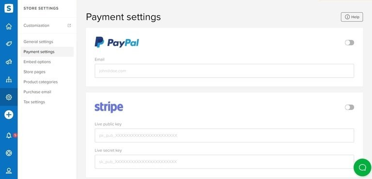 Sellfy Payment Gateways