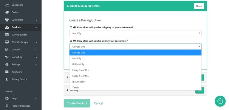Subbly Subscription Create Recurring Shipping